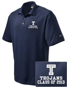 Trinity Catholic School Trojans Embroidered Nike Men's Dri-Fit Classic Polo