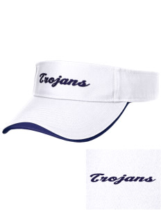 Trinity Catholic School Trojans Embroidered Binding Visor
