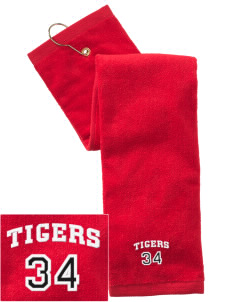 Saint Thomas More Elementary School Tigers Embroidered Hand Towel with Grommet