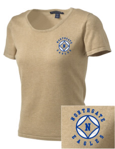 Northgate Elementary School Eagles Embroidered Women's Fine-Gauge Scoop Neck Sweater