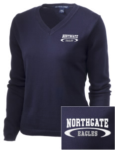 Northgate Elementary School Eagles Embroidered Women's V-Neck Sweater