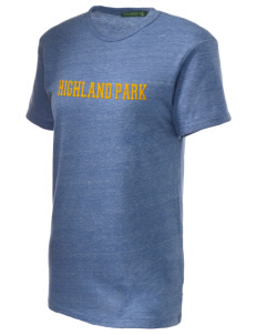 Highland Park Elementary School Mustangs Embroidered Alternative Unisex Eco Heather T-Shirt