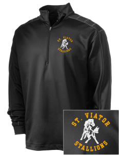 Saint Viator School Stallions Embroidered Nike Men's Golf Dri-Fit 1/2 Zip