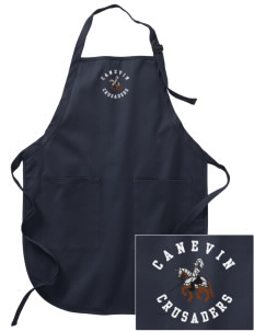 Canevin Catholic High School Crusaders Embroidered Full-Length Apron with Pockets