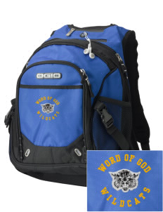 Word Of God School Wildcats Embroidered OGIO Fugitive Backpack