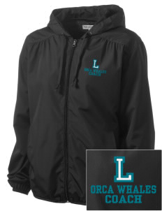 Lakeridge Elementary School Orca Whales Embroidered Women's Hooded Essential Jacket