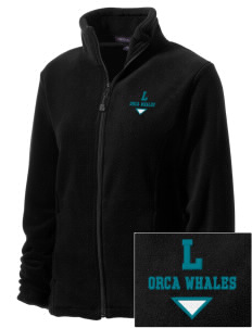 Lakeridge Elementary School Orca Whales Embroidered Women's Wintercept Fleece Full-Zip Jacket