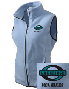 Lakeridge Elementary School Orca Whales Embroidered Women's Fleece Vest