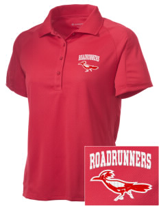 New Mexico School For The Deaf Roadrunners Embroidered Women's Polytech Mesh Insert Polo