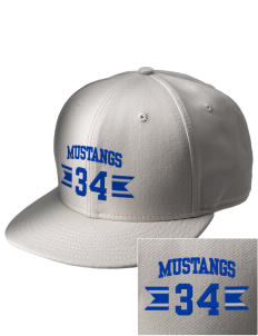 Our Redeemer Lutheran School Mustangs  Embroidered New Era Flat Bill Snapback Cap