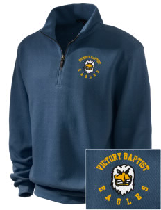 Victory Baptist Academy Eagles Embroidered Men's 1/4-Zip Sweatshirt