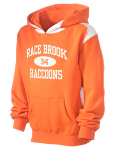 Race Brook Elementary School Raccoons Kid's Pullover Hooded Sweatshirt with Contrast Color