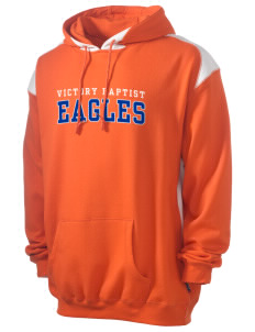 Victory Baptist Academy Eagles Men's Pullover Hooded Sweatshirt with Contrast Color