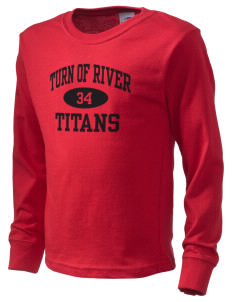 Turn Of River Middle School Titans  Kid's Long Sleeve T-Shirt
