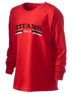 Turn Of River Middle School Titans Kid's 6.1 oz Long Sleeve Ultra Cotton T-Shirt