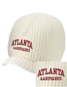 Atlanta Adventist Academy Aardvarks Embroidered Knit Beanie with Visor