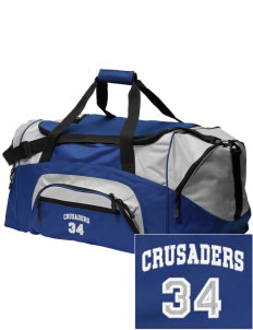 Kaimuki Christian Lower School Crusaders Embroidered Colorblock Duffel Bag