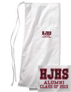 Hine Junior High School Panthers Embroidered Full Bistro Bib Apron