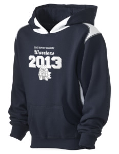 Grace Baptist Academy Warriors Kid's Pullover Hooded Sweatshirt with Contrast Color