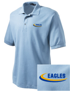 Rochester Hills Christian School Eagles Embroidered Tall Men's Silk Touch Polo