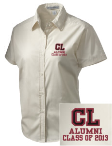 Calvary Lutheran School Wildcats Embroidered Women's Short Sleeve Easy Care, Soil Resistant Shirt