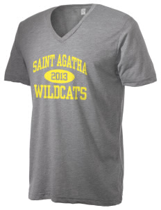 Saint Agatha Catholic School Wildcats Alternative Men's 3.7 oz Basic V-Neck T-Shirt