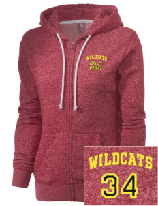 Saint Agatha Catholic School Wildcats Embroidered Women's Marled Full-Zip Hooded Sweatshirt