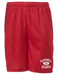 "Campbell High School Buccaneers Men's Mesh Shorts, 7-1/2"" Inseam"