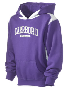 Carrboro High School Jaguars Kid's Pullover Hooded Sweatshirt with Contrast Color