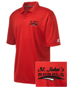 St. John's Elementary School Rebels Embroidered Russell Coaches Core Polo Shirt
