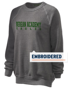 Berean Academy Eagles Embroidered Unisex Alternative Eco-Fleece Raglan Sweatshirt