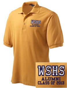 West Seattle High School Indians Embroidered Men's Silk Touch Polo