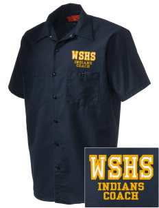 West Seattle High School Indians Embroidered Men's Cornerstone Industrial Short Sleeve Work Shirt