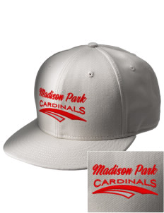 Madison Park Technical Vocational High School Cardinals  Embroidered New Era Flat Bill Snapback Cap