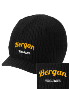 Bergan High School Trojans Embroidered Knit Beanie with Visor