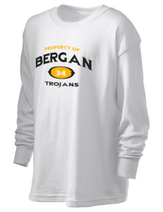 Bergan High School Trojans Kid's 6.1 oz Long Sleeve Ultra Cotton T-Shirt