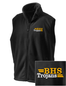 Bergan High School Trojans Embroidered Unisex Wintercept Fleece Vest