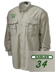 Saint John Lutheran School Eagles Embroidered Men's Explorer Shirt with Pockets