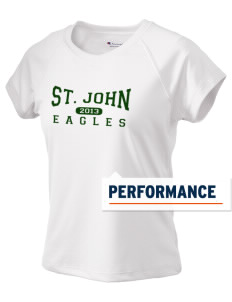 Saint John Lutheran School Eagles Champion Women's Wicking T-Shirt