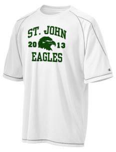 Saint John Lutheran School Eagles Champion Men's 4.1 oz Double Dry Odor Resistance T-Shirt