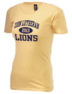Zion Lutheran School Lions Alternative Women's Basic Crew T-Shirt