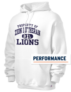 Zion Lutheran School Lions Russell Men's Dri-Power Hooded Sweatshirt