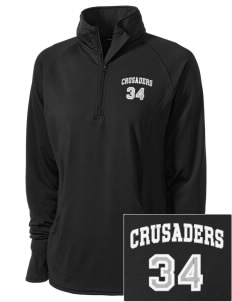 Armenian Sisters Academy Crusaders Embroidered Ladies Stretched Half-Zip Pullover
