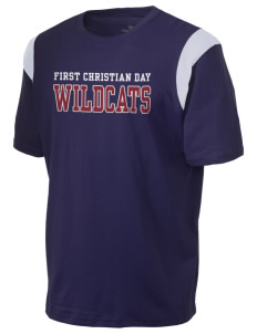 First Christian Day School Wildcats Holloway Men's Rush T-Shirt