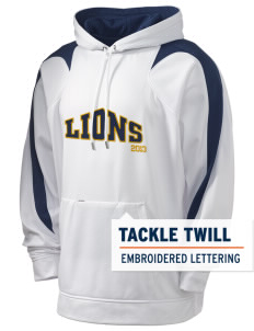 Trinity Lutheran School Lions Holloway Men's Sports Fleece Hooded Sweatshirt with Tackle Twill