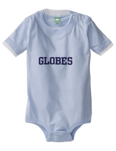 Phillips Academy Globes Baby One-Piece with Shoulder Snaps