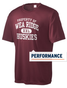 Wea Ridge Middle School Huskies Men's Competitor Performance T-Shirt