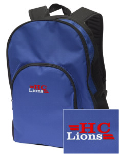 Hilltop Christian School Lions Embroidered Value Backpack