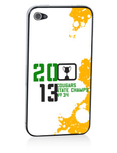 Crump Elementary School Cougars Apple iPhone 4/4S Skin