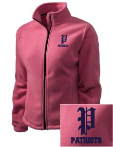 Christian Senior High School Patriots Embroidered Women's Fleece Full-Zip Jacket